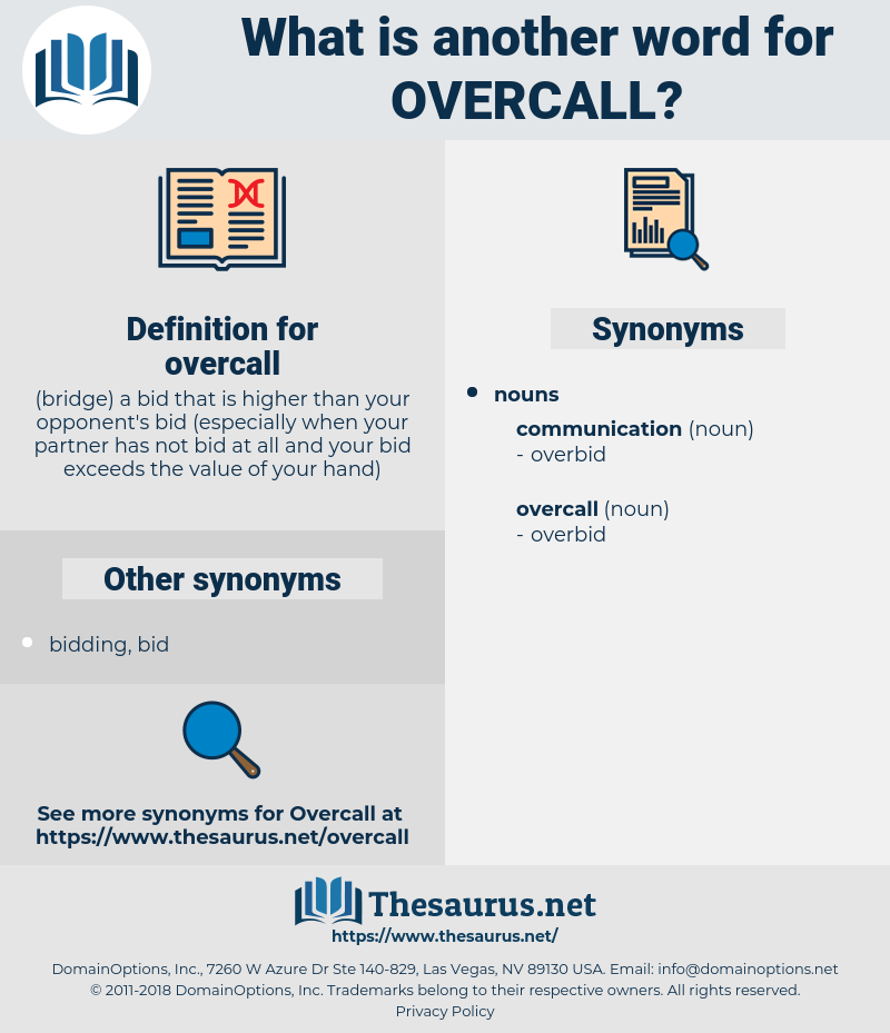 overcall, synonym overcall, another word for overcall, words like overcall, thesaurus overcall