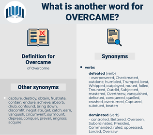 Overcame, synonym Overcame, another word for Overcame, words like Overcame, thesaurus Overcame