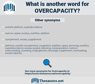 overcapacity, synonym overcapacity, another word for overcapacity, words like overcapacity, thesaurus overcapacity