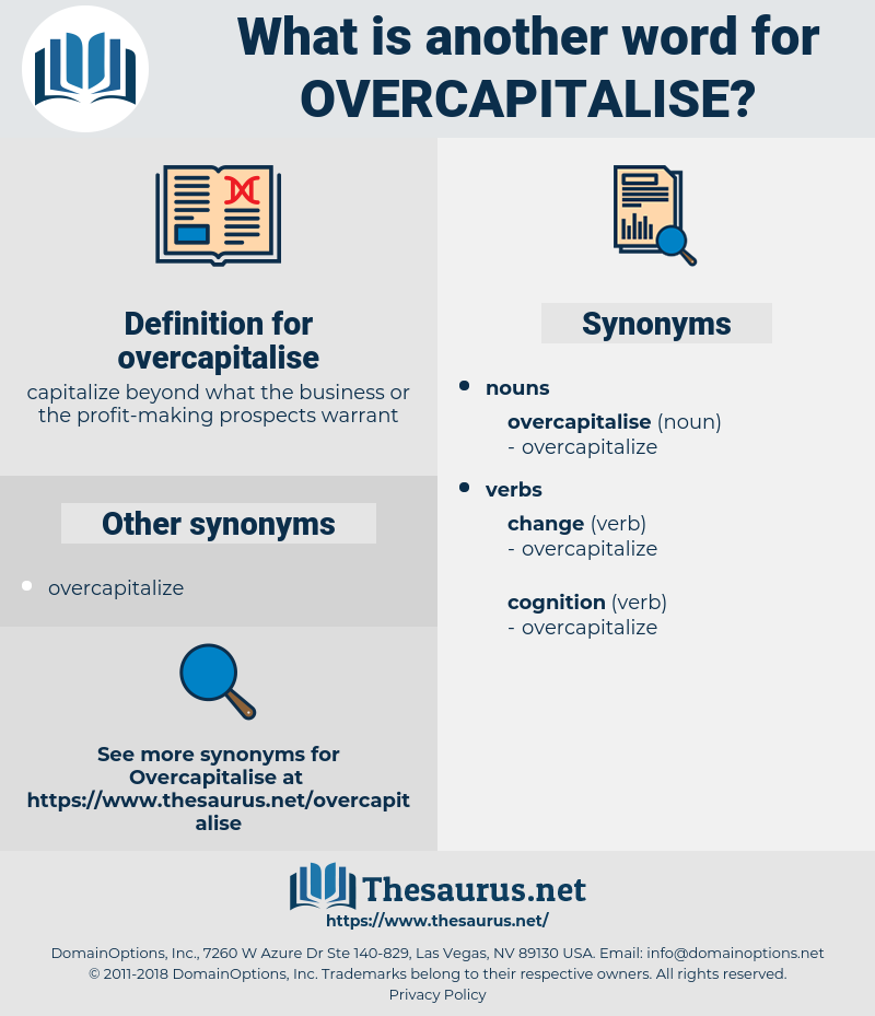 overcapitalise, synonym overcapitalise, another word for overcapitalise, words like overcapitalise, thesaurus overcapitalise