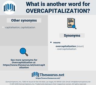 overcapitalization, synonym overcapitalization, another word for overcapitalization, words like overcapitalization, thesaurus overcapitalization
