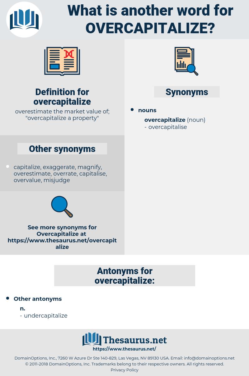 overcapitalize, synonym overcapitalize, another word for overcapitalize, words like overcapitalize, thesaurus overcapitalize