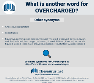 overcharged, synonym overcharged, another word for overcharged, words like overcharged, thesaurus overcharged