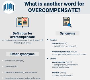 overcompensate, synonym overcompensate, another word for overcompensate, words like overcompensate, thesaurus overcompensate