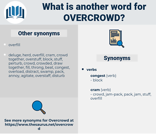 overcrowd, synonym overcrowd, another word for overcrowd, words like overcrowd, thesaurus overcrowd