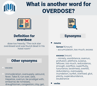 overdose, synonym overdose, another word for overdose, words like overdose, thesaurus overdose