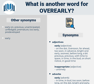 overearly, synonym overearly, another word for overearly, words like overearly, thesaurus overearly