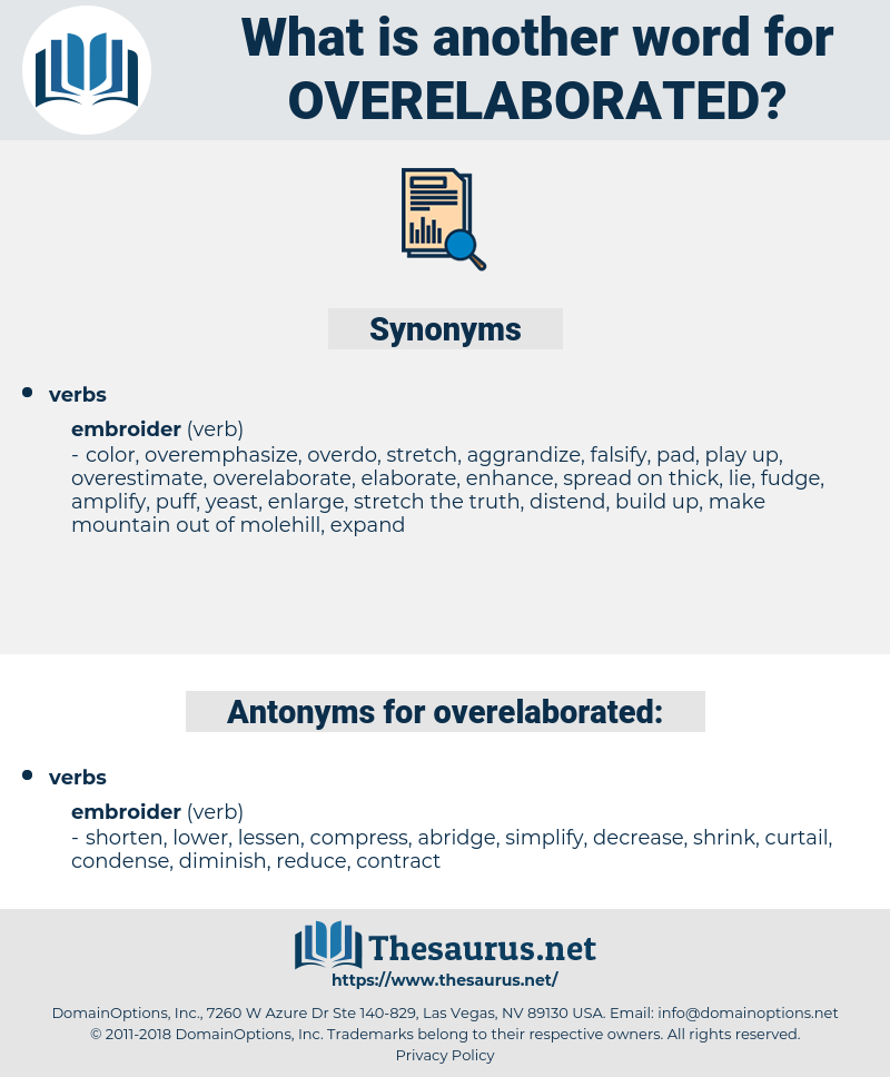 overelaborated, synonym overelaborated, another word for overelaborated, words like overelaborated, thesaurus overelaborated