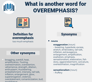 overemphasis, synonym overemphasis, another word for overemphasis, words like overemphasis, thesaurus overemphasis