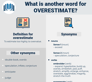overestimate, synonym overestimate, another word for overestimate, words like overestimate, thesaurus overestimate
