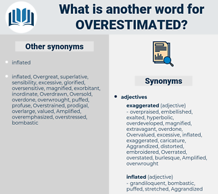 overestimated, synonym overestimated, another word for overestimated, words like overestimated, thesaurus overestimated