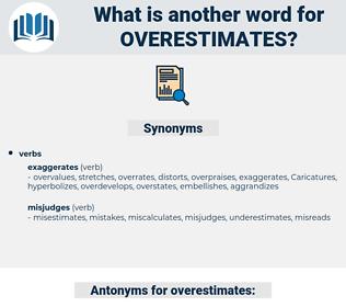 overestimates, synonym overestimates, another word for overestimates, words like overestimates, thesaurus overestimates