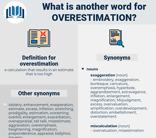 overestimation, synonym overestimation, another word for overestimation, words like overestimation, thesaurus overestimation