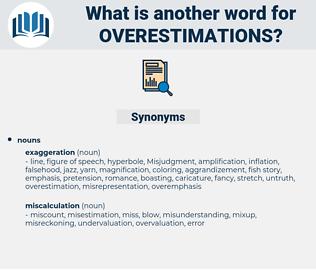 overestimations, synonym overestimations, another word for overestimations, words like overestimations, thesaurus overestimations