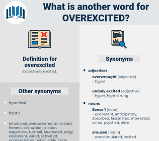 overexcited, synonym overexcited, another word for overexcited, words like overexcited, thesaurus overexcited
