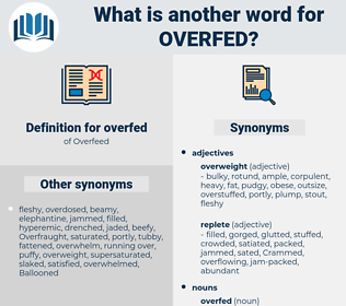 overfed, synonym overfed, another word for overfed, words like overfed, thesaurus overfed