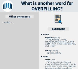 overfilling, synonym overfilling, another word for overfilling, words like overfilling, thesaurus overfilling