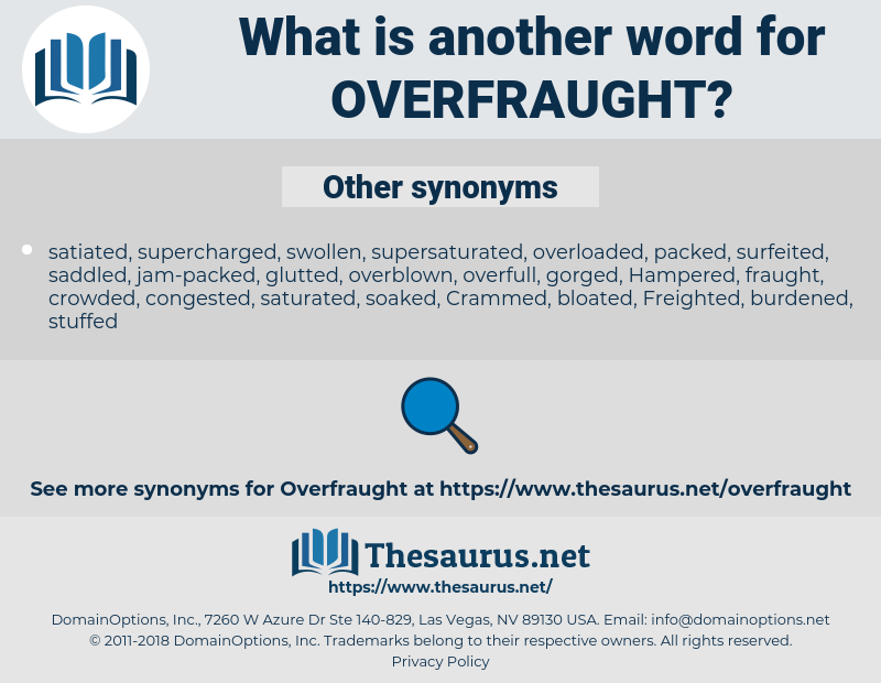 Overfraught, synonym Overfraught, another word for Overfraught, words like Overfraught, thesaurus Overfraught