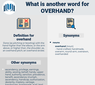 overhand, synonym overhand, another word for overhand, words like overhand, thesaurus overhand