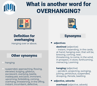 overhanging, synonym overhanging, another word for overhanging, words like overhanging, thesaurus overhanging