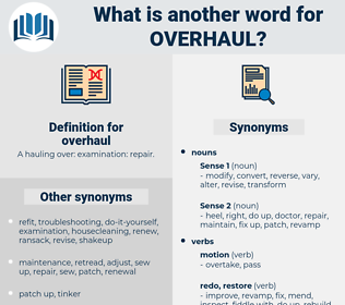 overhaul, synonym overhaul, another word for overhaul, words like overhaul, thesaurus overhaul