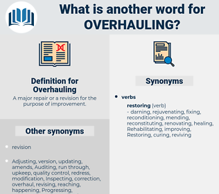 Overhauling, synonym Overhauling, another word for Overhauling, words like Overhauling, thesaurus Overhauling