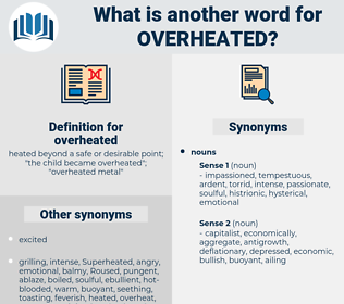 overheated, synonym overheated, another word for overheated, words like overheated, thesaurus overheated