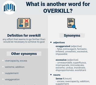 overkill, synonym overkill, another word for overkill, words like overkill, thesaurus overkill