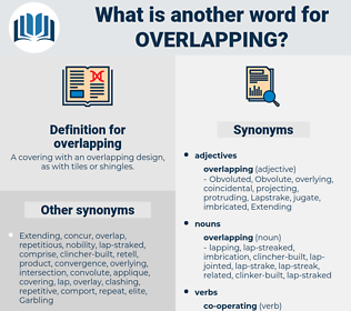 overlapping, synonym overlapping, another word for overlapping, words like overlapping, thesaurus overlapping