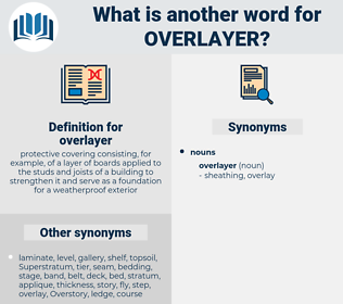 overlayer, synonym overlayer, another word for overlayer, words like overlayer, thesaurus overlayer