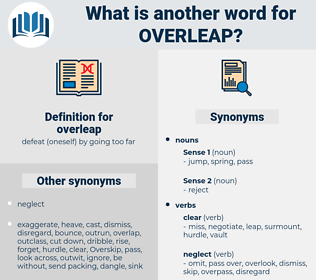 overleap, synonym overleap, another word for overleap, words like overleap, thesaurus overleap