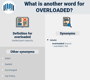 overloaded, synonym overloaded, another word for overloaded, words like overloaded, thesaurus overloaded