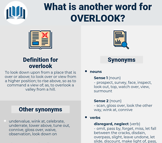 overlook, synonym overlook, another word for overlook, words like overlook, thesaurus overlook