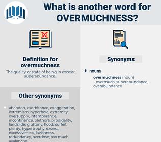 overmuchness, synonym overmuchness, another word for overmuchness, words like overmuchness, thesaurus overmuchness
