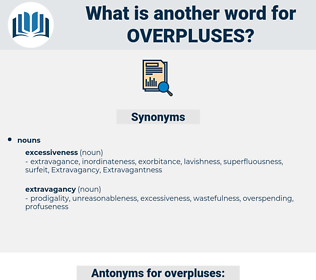 overpluses, synonym overpluses, another word for overpluses, words like overpluses, thesaurus overpluses