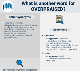 overpraised, synonym overpraised, another word for overpraised, words like overpraised, thesaurus overpraised