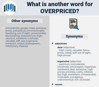 overpriced, synonym overpriced, another word for overpriced, words like overpriced, thesaurus overpriced