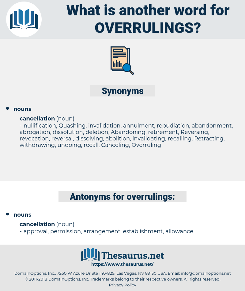 overrulings, synonym overrulings, another word for overrulings, words like overrulings, thesaurus overrulings