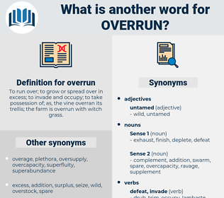 overrun, synonym overrun, another word for overrun, words like overrun, thesaurus overrun