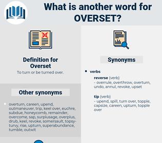 Overset, synonym Overset, another word for Overset, words like Overset, thesaurus Overset