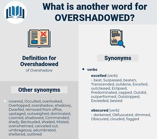 Overshadowed, synonym Overshadowed, another word for Overshadowed, words like Overshadowed, thesaurus Overshadowed