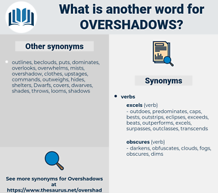 overshadows, synonym overshadows, another word for overshadows, words like overshadows, thesaurus overshadows