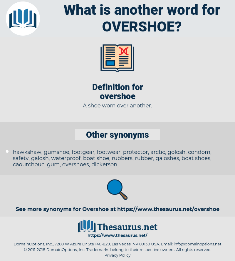 overshoe, synonym overshoe, another word for overshoe, words like overshoe, thesaurus overshoe
