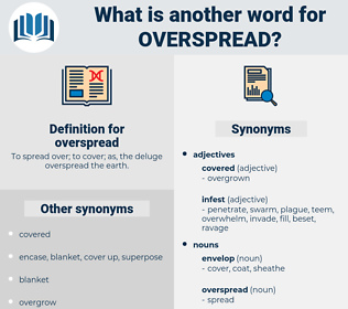 overspread, synonym overspread, another word for overspread, words like overspread, thesaurus overspread