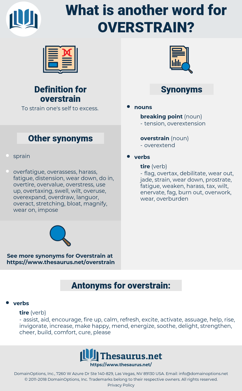 overstrain, synonym overstrain, another word for overstrain, words like overstrain, thesaurus overstrain