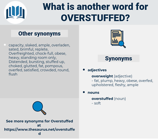 overstuffed, synonym overstuffed, another word for overstuffed, words like overstuffed, thesaurus overstuffed