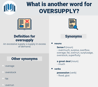 oversupply, synonym oversupply, another word for oversupply, words like oversupply, thesaurus oversupply