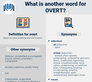 overt, synonym overt, another word for overt, words like overt, thesaurus overt