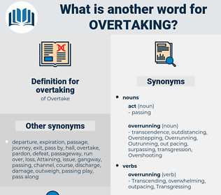 overtaking, synonym overtaking, another word for overtaking, words like overtaking, thesaurus overtaking