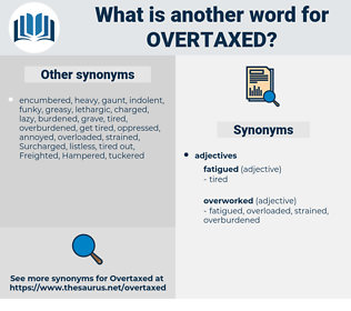 overtaxed, synonym overtaxed, another word for overtaxed, words like overtaxed, thesaurus overtaxed